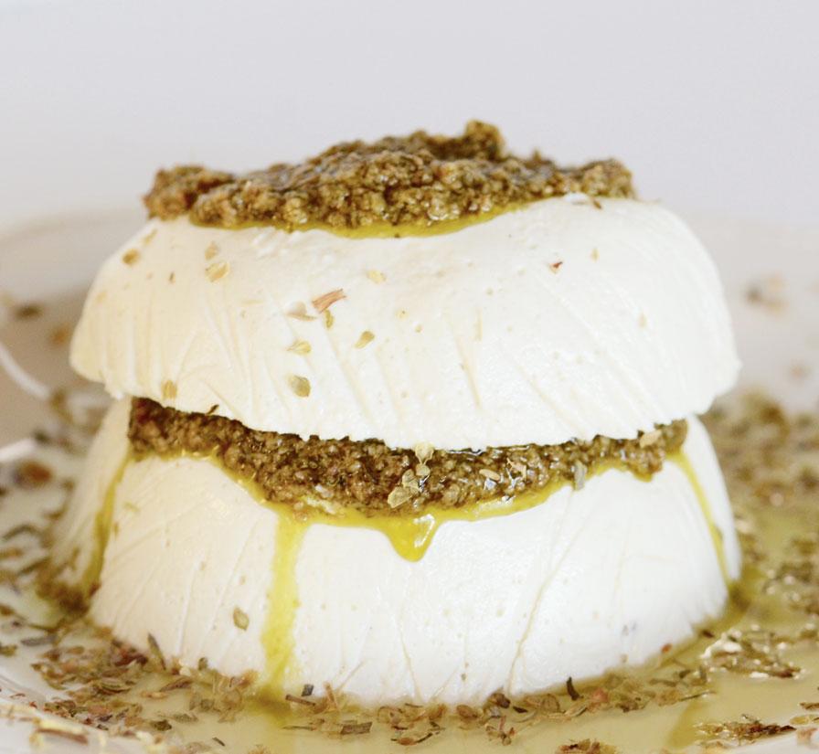 גבינת עיזים טבעונית