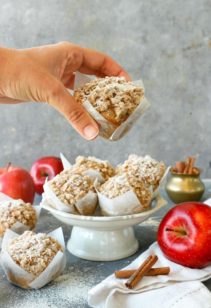 מאפינס קראמבל תפוחים טבעוני