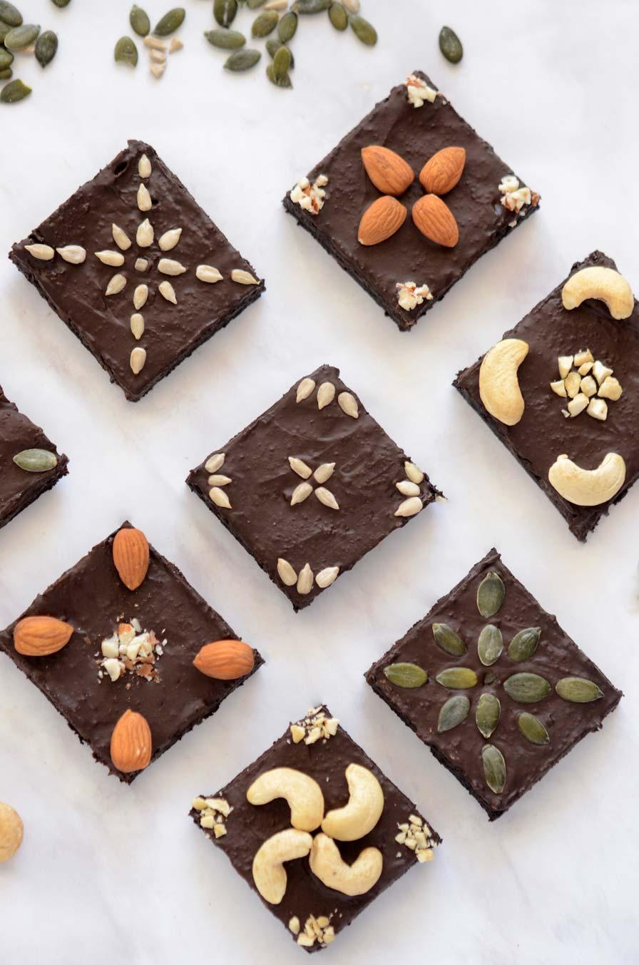 בראוניז טבעוני שוקולד ואגוזים