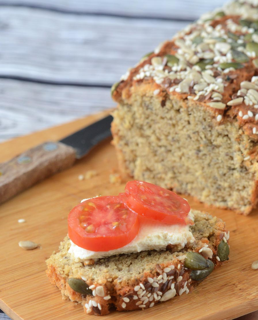 לחם טחינה טבעוני