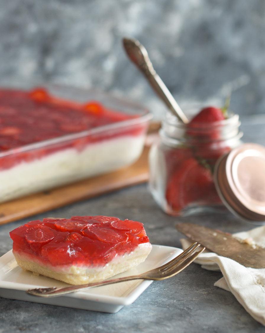 עוגת ג'לי ופודינג טבעונית
