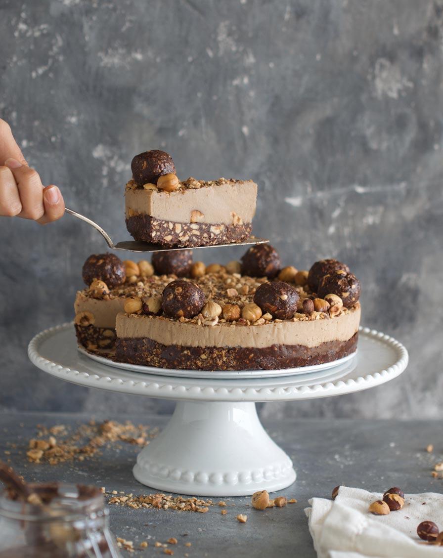 עוגת פררו רושה טבעונית
