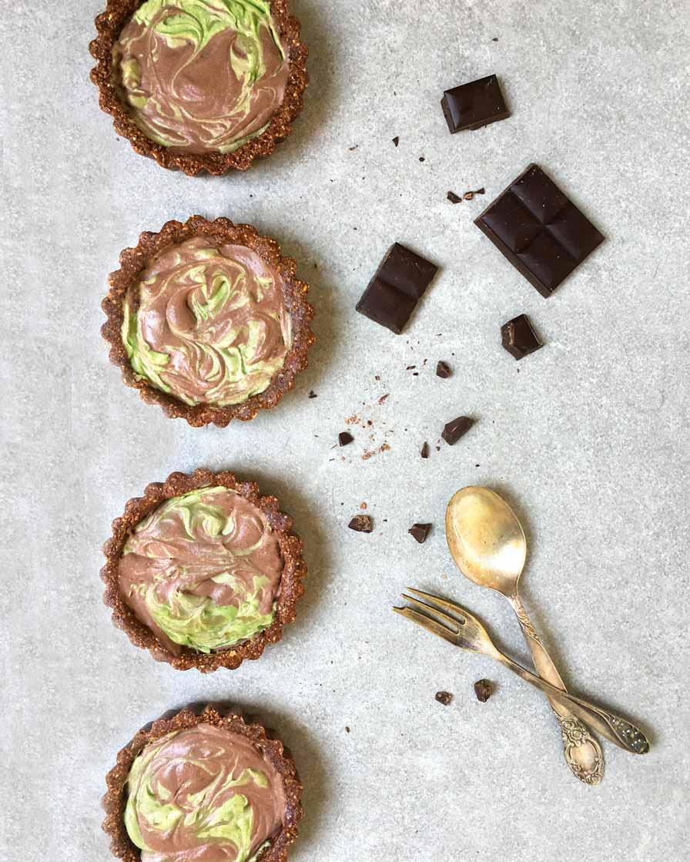 עוגת מאצ'ה ושוקולד טבעונית