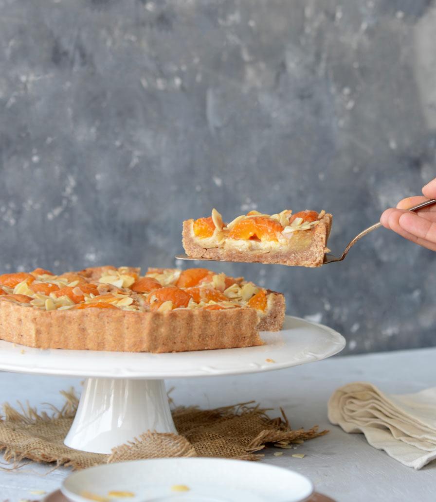 עוגת משמשים ושקדים טבעונית