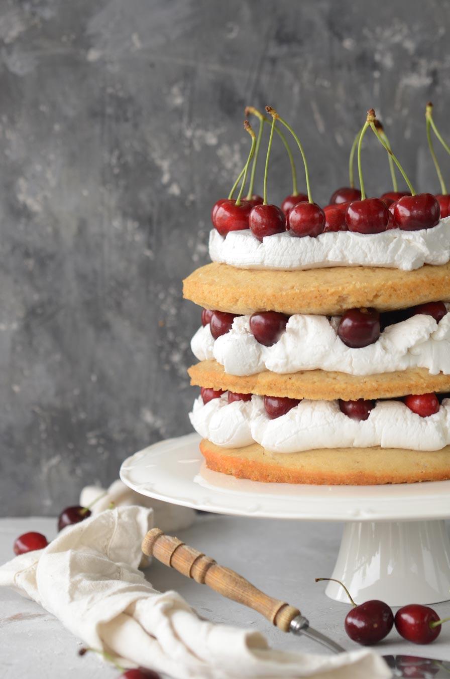 עוגת ויקטוריה טבעונית
