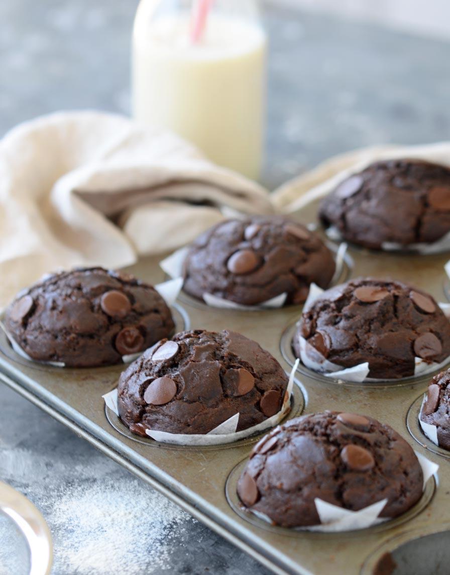 מאפינס שוקולד טבעוני