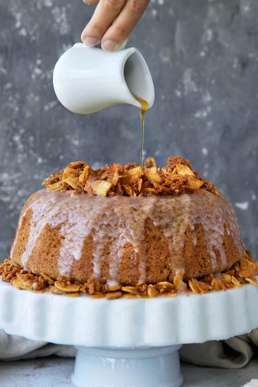 עוגת מייפל טבעונית