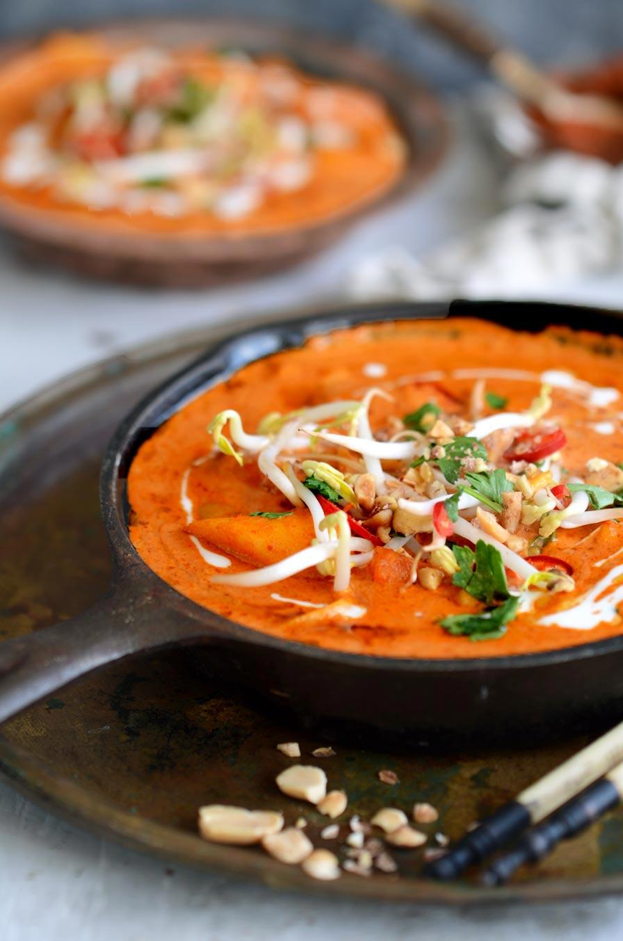 קארי תאילנדי אדום טבעוני