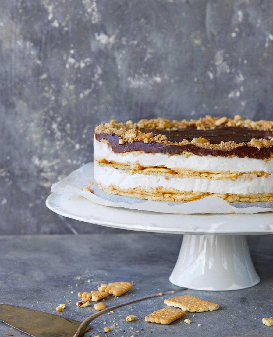 עוגת ביסקווטים טבעונית