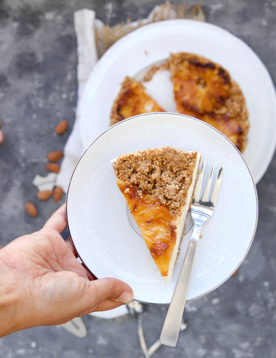 עוגת אננס טבעונית