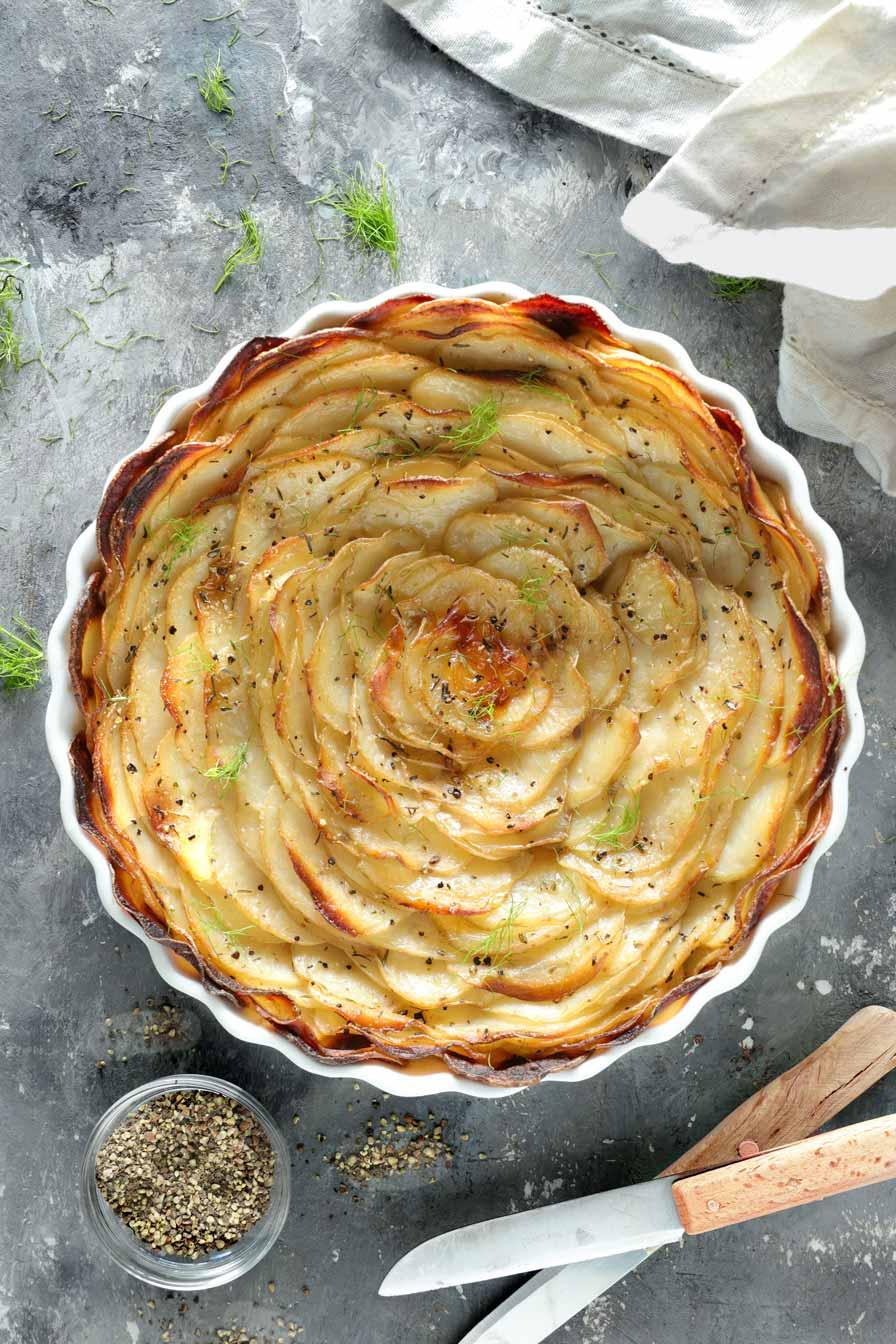 תפוחי אדמה אפויים בתנור