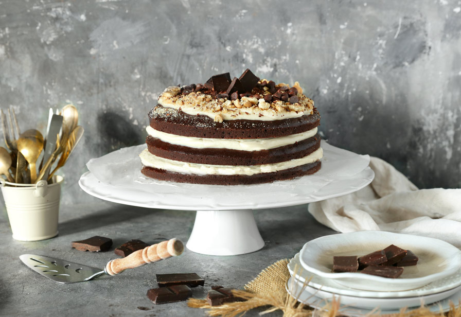 עוגת שכבות טבעונית