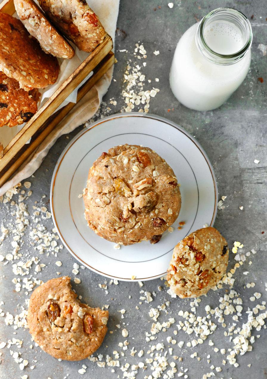 עוגיות שיבולת שועל טבעוניות