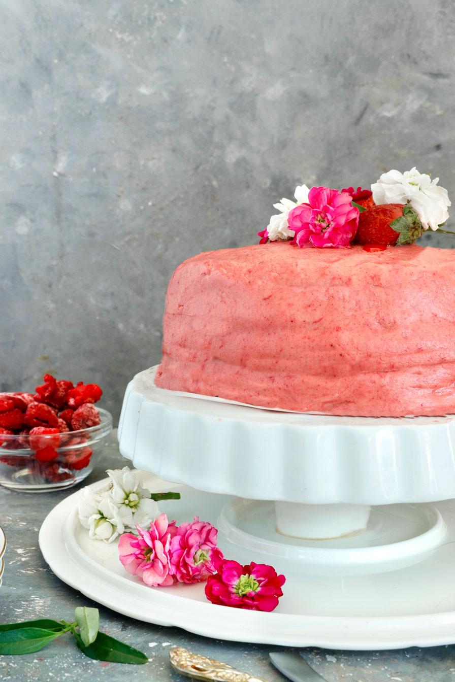 עוגת פטל טבעונית