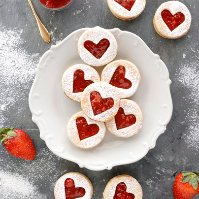 עוגיות ריבה טבעוניות