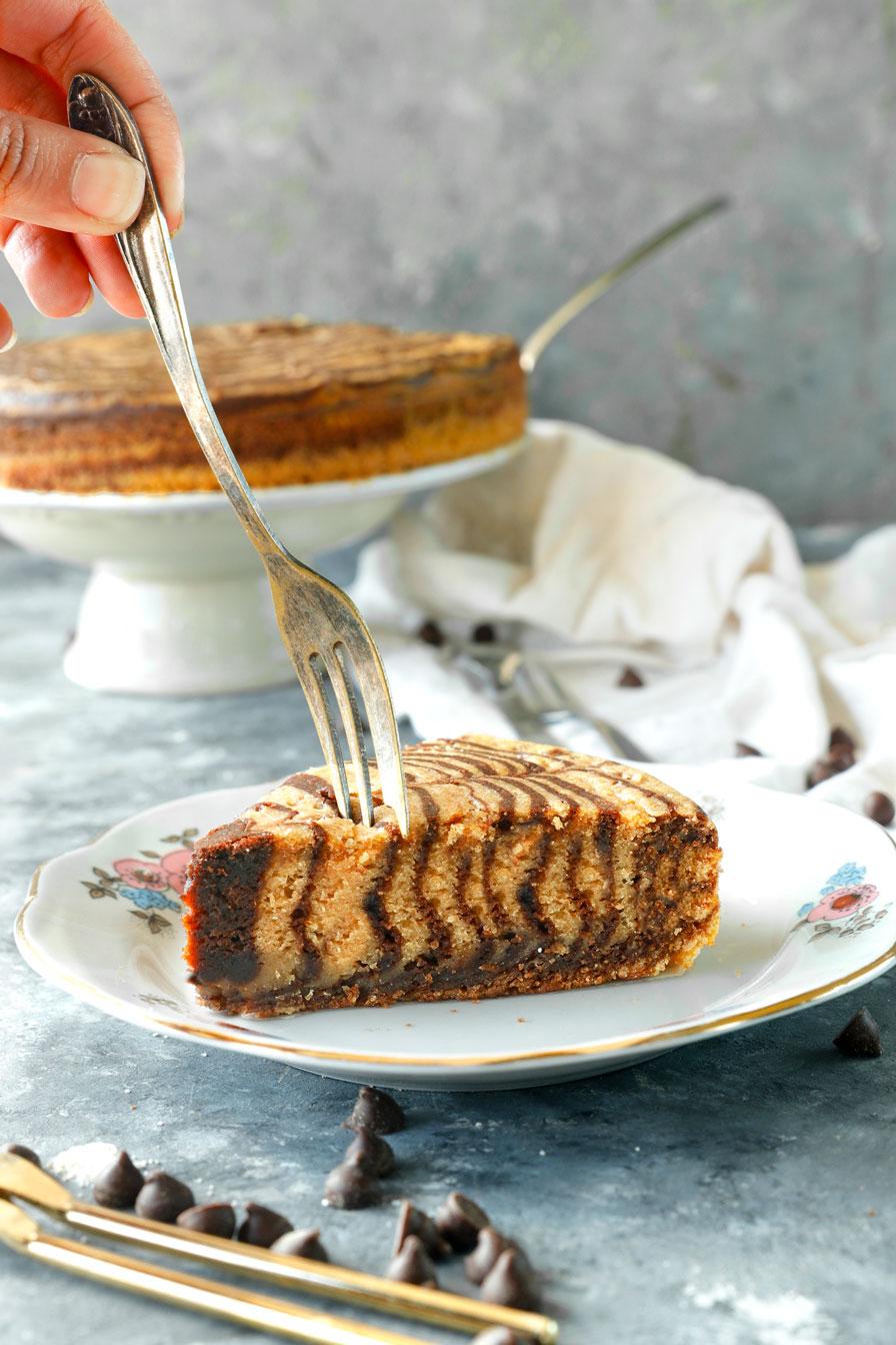 עוגת זברה בחושה