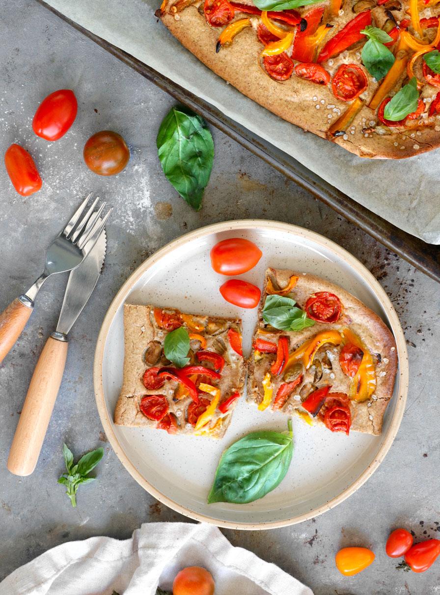 מאפה ירקות קלויים ללא גלוטן
