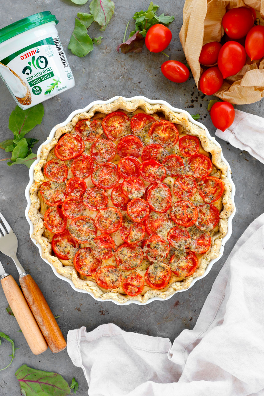 קיש גבינות ועגבניות שרי