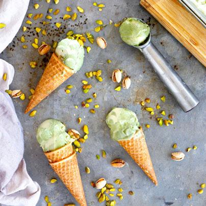 גלידת פיסטוק טבעונית