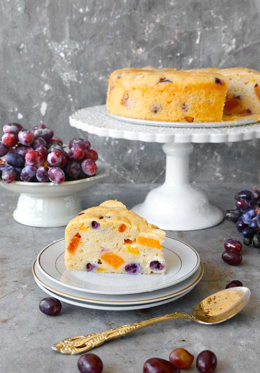 עוגת פירות בחושה
