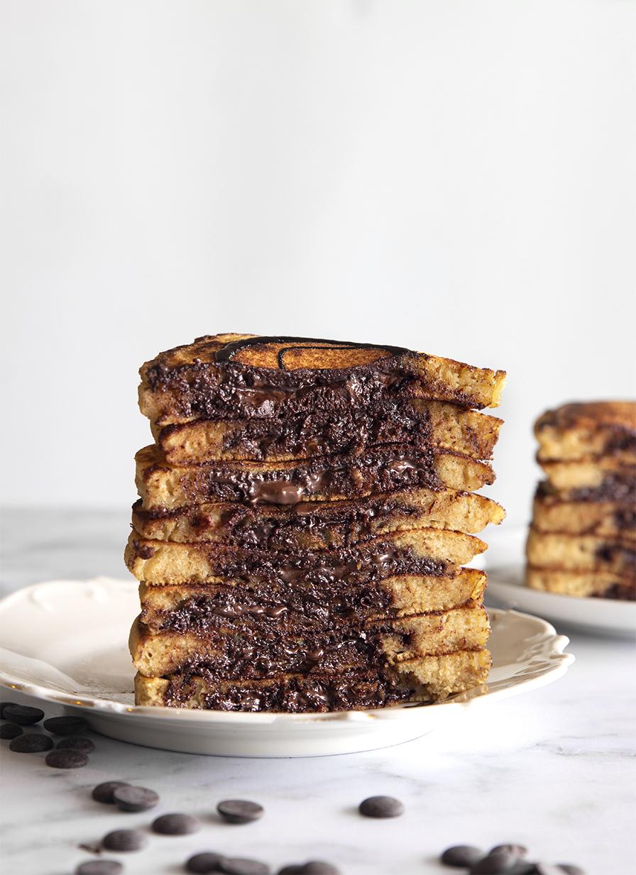 פנקייק במילוי שוקולד