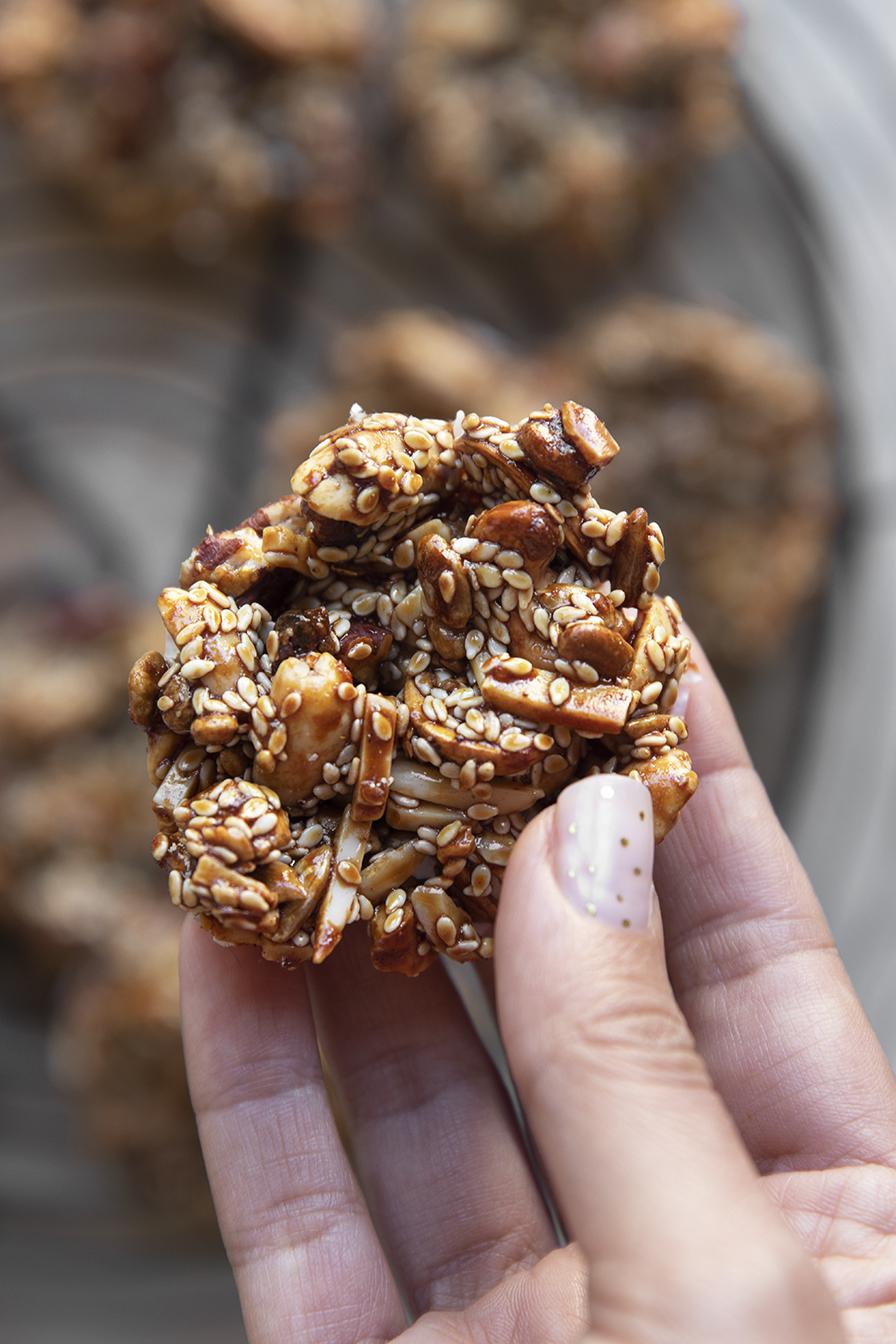 עוגיות פיצוחים טבעוניות