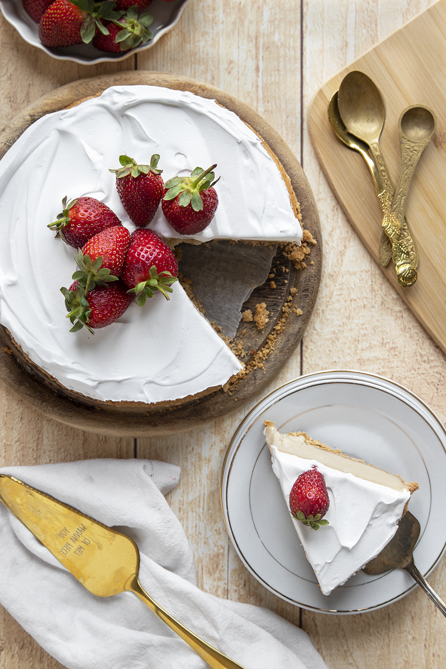 עוגת גבינה קלאסית טבעונית